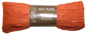 paper ribbon silk paper ribbon 1m terracotta