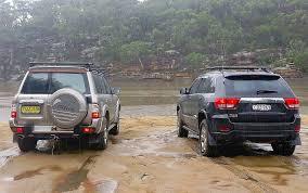 nissan jeep 2014 jeep grand cherokee wk2 vs nissan patrol gu youtube