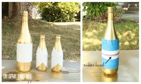 Spray Paint Wine Bottle Crafts Diy Spray Paint Vase More To Mrs E