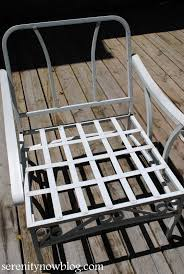 How To Paint Metal Patio Furniture - serenity now how to clean and paint vintage metal patio furniture