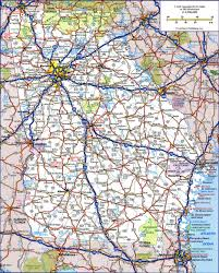 United States National Parks Map by Large Detailed Roads And Highways Map Of Georgia State With All