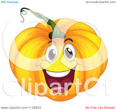 happy halloween clipart cartoon of a happy halloween pumpkin mascot royalty free vector