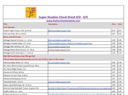 harris teeter super doubles cheat sheet 4 2 4 4 the harris