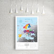 Map Of Modern Europe by Europe Travel Map Silver 1dea Me Touch Of Modern