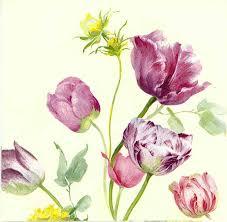 watercolor cocktail decoupage paper napkins of watercolor tulips u2013 chiarotino