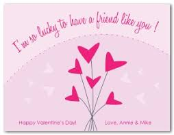 valentines day cards for friends printable friends valentines day card template