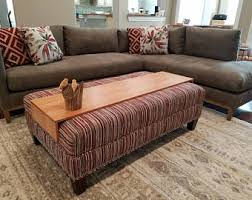 Coffee Table Or Ottoman - ottoman wrap tray reclaimed wood drink rest table for couch