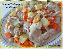 cuisine lapin au vin blanc blanquette de lapin au vin blanc ghislaine cuisine