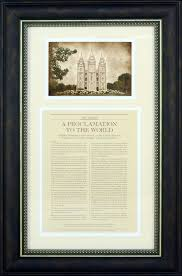 framed family proclamation the family a proclamation to the world framed with temple lds