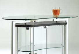 Glass Bar Table Glass Contemporary Bar Table W Cromed Metal Frame