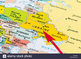 Map Pf Europe by Red Arrow Pointing Ukraine On The Map Of Europe Continent Stock