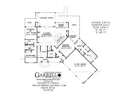 hot springs cottage 3 car house plan house plans by garrell hot springs cottage 3 car house plan 09132 1st floor plan