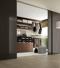 super modern closet design with contemporary glass partition