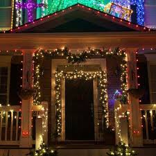 outdoor garland with lights awesome new 6 lighted l