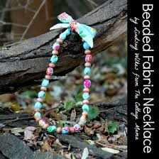 beaded necklace make images Diy beaded fabric necklace easy snappy holiday project the jpg