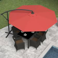 Red Rectangular Patio Umbrella Exterior Pool Deck Umbrella Outside Table Umbrella Southern
