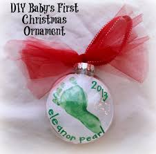 diy baby s footprint ornament for 2 bare