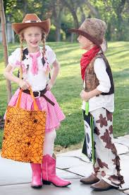 boy twin costume idea cowgirl and cowboy the crafting