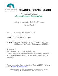 rio grande institute research seminars unm prevention research