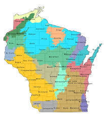 county map state areas by county wisconsin dnr