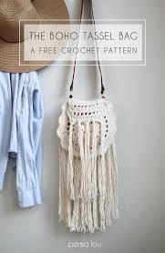 bag pattern in pinterest boho tassel crochet bag free pattern free pattern tassels and