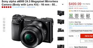 sony a6000 best buy black friday deals sony a6000 bundle deals cheapest price mirrorless deal