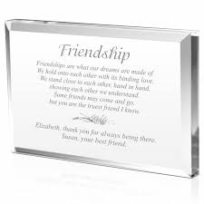 personalized keepsakes personalized friendship plaque engraved plaque for best friend