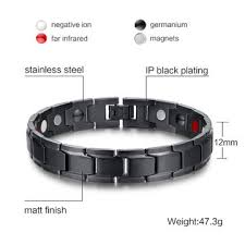 black magnetic bracelet stainless images China black stainless steel chain adjustable health magnetic jpg