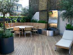 roof 4 amazing rooftop patio with brick walls and wooden dining