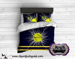 Custom Comforters And Bedspreads Softball Bedding Etsy