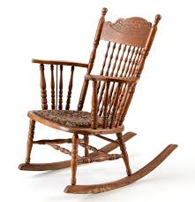 Mission Oak Rocking Chair Late Victorian Oak Rocking Chair Ebth