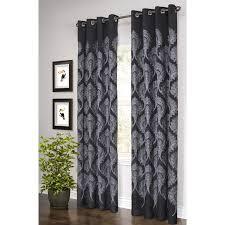 Black And White Curtain Designs Curtains Ideas Black And White Scroll Shower Curtain Astounding