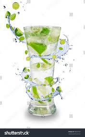 drink splash fresh mojito drink splash spiral around stock photo 98923427