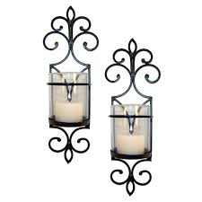 amazon com pomeroy pentaro candle holder sconce wall lighting amazon com pomeroy pentaro candle holder sconce wall lighting set of two home kitchen