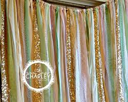 wedding backdrop garland shabby chic boho rustic fabric garland backdrop ribbon fabric