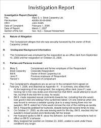 investigation report template workplace investigation report template 7 free pdf word