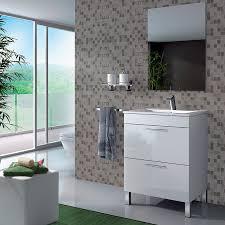 lacar muebles en blanco mueble baño de 60 cm con espejo y lavabo lacado en color blanco brillo