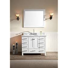 solid wood bathroom vanities amazon com
