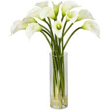 Calla Lily Flower Silk 20 Inch Mini Calla Lily Flower Arrangement Free Shipping