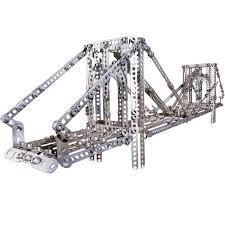 meccano erector 2 in 1 model kit eiffel tower and brooklyn bridge