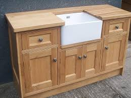 Oak Belfast Sink Base Free Standing Kitchen Cabinets Hana Dream - Kitchen cabinets base units