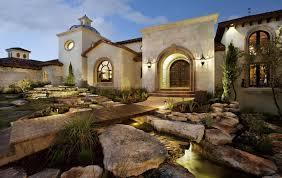 amazing spanish mediterranean house design with impressive stone