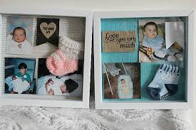 baby shadow box baby shadow box monthly craft destash challenge our crafty