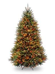 artificial christmas trees multi colored lights 12 pre lit northern dunhill fir full artificial christmas tree
