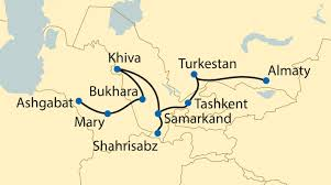 Silk Road Map The Legendary Silk Road By Private Train Platform 9