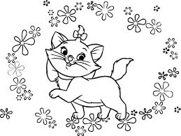 disney flowers aristocats coloring wecoloringpage