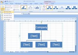 Org Chart Template Excel Add A Shape To An Organization Chart Organization Chart