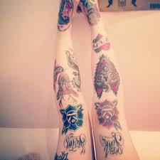 head tattoo u2013 awesome deer n panther designs on knee