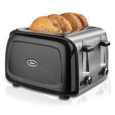 Sunbeam 4 Slice Toaster Review Oster 4 Slice Toaster Black Metallic Tssttrpmb4 Np Oster