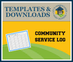 download u2013 community service log letshomeschoolhighschool com